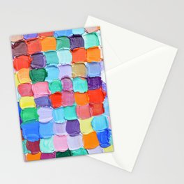 Polka Daub Checkers Stationery Cards