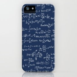 Math Equations // Navy iPhone Case