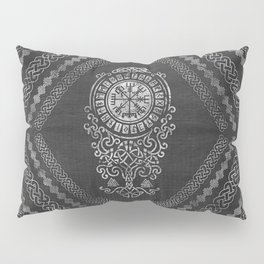 Vegvisir  with Tree of life  Yggdrasil  and Runes Pillow Sham