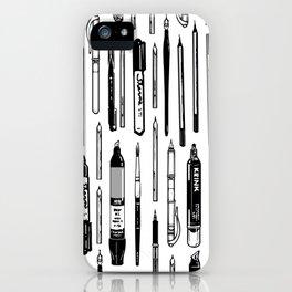 Pent Up Creativity (BW) iPhone Case
