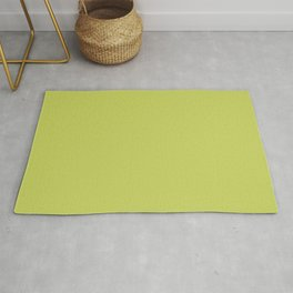 Tropical Dark Lime Green Yellow Solid Color Accent  Rug