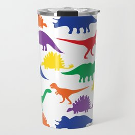 Dinosaurs - White Travel Mug