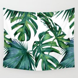 Classic Palm Leaves Tropical Jungle Green Wandbehang