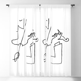 Saul Steinberg Violinist Violin Player American Cartoonist Artwork Reproduction for Prints Posters T Blackout Curtain