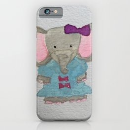 Elephant Jungle Friends Baby Animal Water Color iPhone Case