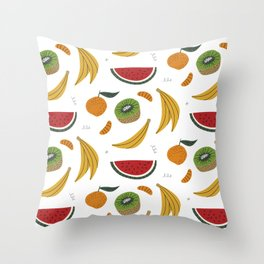 Colored Fruits Pattern Throw Pillow