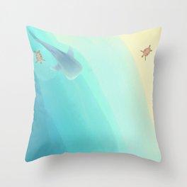 Whale Shark Beach Throw Pillow