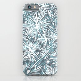 Underwater Plant Life in Blue-Green and Gray iPhone Case