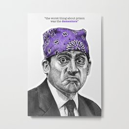 Prison Mike - TV Inspired Art Metal Print