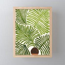 Summer Fern / Simple Modern Watercolor Framed Mini Art Print
