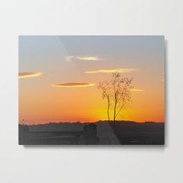 Sunset at St Aidan's Metal Print