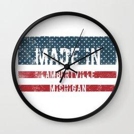 Made in Lambertville, Michigan Wall Clock