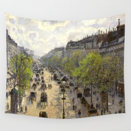 """Camille Pissarro """"Boulevard Montmartre, Spring"""" Wall Tapestry"""