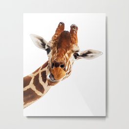 Giraffe Portrait // Wild Animal Cute Zoo Safari Madagascar Wildlife Nursery Decor Ideas Metal Print
