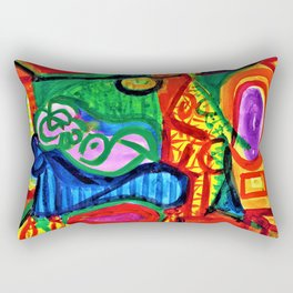 Pablo Picasso - Reclining woman and character - Digital Remastered Edition Rectangular Pillow