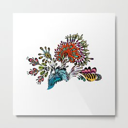 Abstract Doodle Art Illustration Drawing Painting Artwork (P12 056) Metal Print