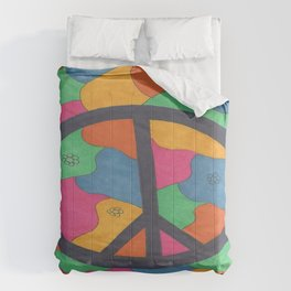 Groovy Peace Sign Comforters