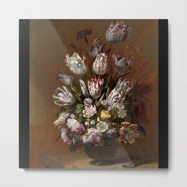 Floral Still Life, Hans Bollongier, 1639 Metal Print