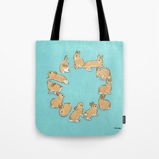 12 rabbits Tote Bag