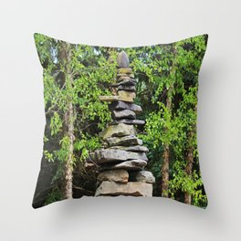 Cairn for a Wilderness Songstress Throw Pillow