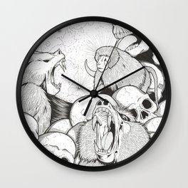 Baboons/Genocide/Licking Skulls Wall Clock