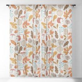 Autumn Woods Sheer Curtain