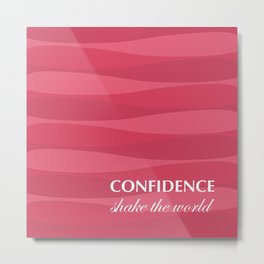 Red for Confidence Metal Print