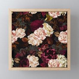 Vintage & Shabby Chic - Midnight Rose and Peony Garden Framed Mini Art Print