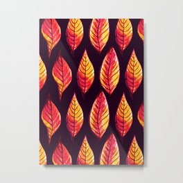 Vibrant autumn leaves pattern Metal Print