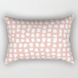 Dots / Pink Rectangular Pillow