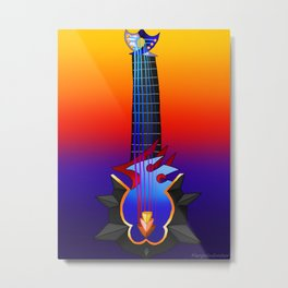 Fusion Keyblade Guitar #135 - Maeverick Flame & Abyssal Tide Metal Print
