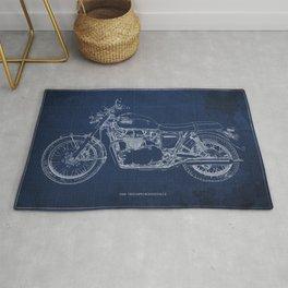 1969 triumph bonneville classic vintage motorcycle christmas gift Rug