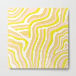 yellow zebra stripes Metal Print