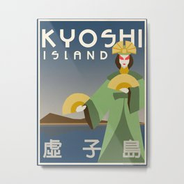 Kyoshi Island Travel Poster Metal Print