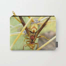 Watercolor Wasp, Large Yellow Paper Wasp 01, Ventana Canyon, Arizona, Buzz Buzz! Carry-All Pouch