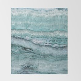 Mystic Stone Aqua Teal Throw Blanket