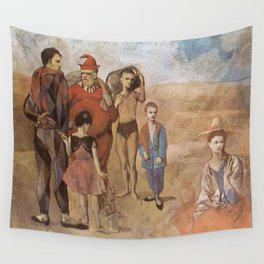 Pablo Picasso - Family of Saltimbanques Wall Tapestry