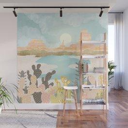 Retro Desert Oasis Wall Mural
