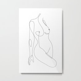 Single Nude Metal Print