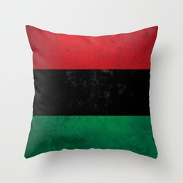 Distressed Afro-American / Pan-African / UNIA flag Throw Pillow