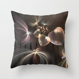 Love needs Freedom, Fractal Art Throw Pillow