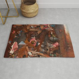 """Hieronymus Bosch """"The Last Judgment"""" triptych (Bruges) cental panel Rug"""