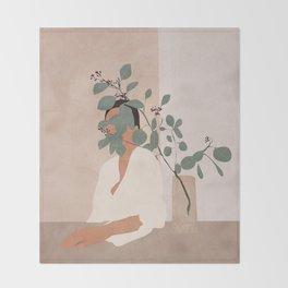 Behind the Leaves Throw Blanket