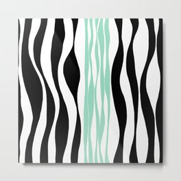 Ebb and Flow - Green (Mint) Metal Print