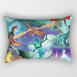 Wings of fire all dragon bg Rectangular Pillow