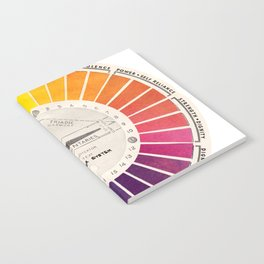 Vintage Color Wheel - Art Teaching Tool - Rainbow Mood Chart Pride Notebook