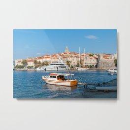 Marina of Korcula city - Dalmatia, Croatia Metal Print