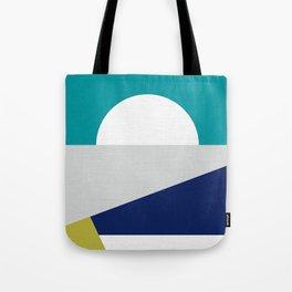 Mid Century Modern Coastal Sunrise  Tote Bag