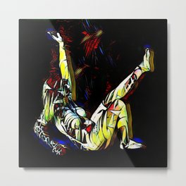 2295s-MS Colorful Female Figure Abstract Art Nude Colors Metal Print