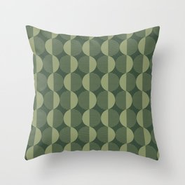 Abstract Circles pattern green  Throw Pillow